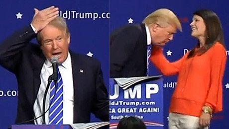 Trump walczy o fotel prezydenta USA Nie noszę tupecika To moje włosy Przysięgam