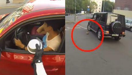 HIT SIECI Rosjanka na motorze kontra śmieciarze
