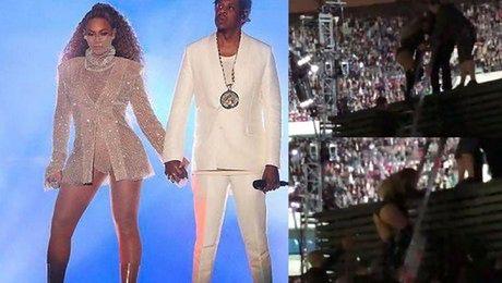 Kolejna sprzeczka Beyonce i Jaya Z Nie podał jej ręki kiedy schodziła z drabiny