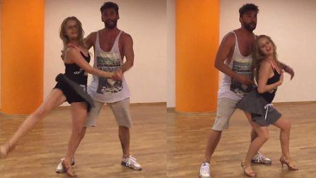 Olga Kalicka i Maserak trenują lambadę do Tańca z gwiazdami