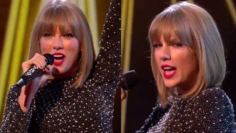 Taylor Swift śpiewa Shake if off w brytyjskim X Factorze