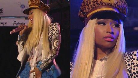 Nicki Minaj w panterce łapie się za krocze
