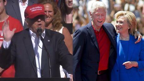 Donald Trump Nikt nie wykorzystywał kobiet bardziej niż Bill Clinton