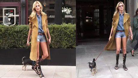 Anja z psem na spacerze
