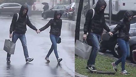 Żmuda Trzebiatowska na spacerze z mężem