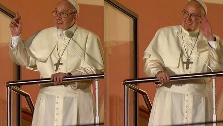 Franciszek w oknie papieskim do pielgrzymów Dobry wieczór