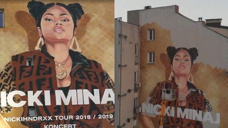 Kulisy powstawania gigantycznego muralu Nicki Minaj w Warszawie