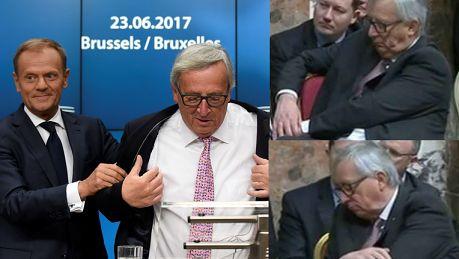 Szef Komisji Europejskiej jest uzależniony od alkoholu Utknął w marynarce i pomógł mu Donald Tusk