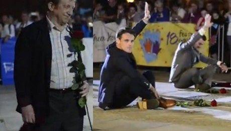 Zakościelny Lubaszenko i inni odciskają dłonie