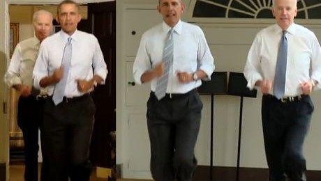 Barack Obama biega po Białym Domu