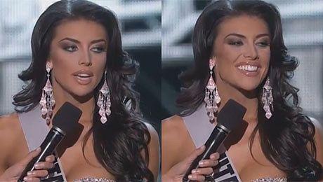 Miss Utah próbuje odpowiedzieć na pytanie