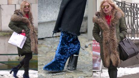Rozczochrana Olejnik w butach Kendall Jenner