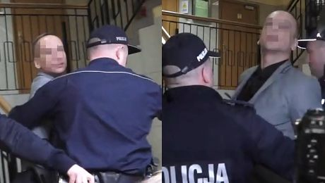 Żona do Dariusza K w sądzie Cześć Wyrywał się policjantom