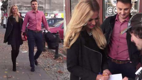 Rozalia Mancewicz z mężem wychodzą z Dzień Dobry TVN