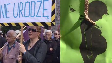 Czarny Protest w Sopocie Będziemy zmuszone do urodzenia płodu który zaraz umrze