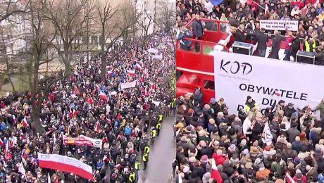Tysiące ludzi protestują przed Trybunałem Konstytucyjnym Obronimy demokrację