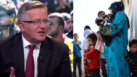 Komorowski Będziemy mieli coraz więcej uchodźców Nie straszmy Polaków