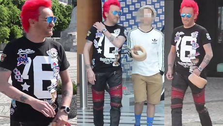 Michał Wiśniewski ignoruje paparazzi pod TVP WIDEO
