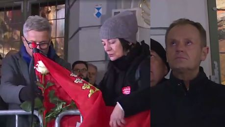 Paweł Adamowicz nie żyje Tysiące ludzi upamiętniło minutą ciszy prezydenta