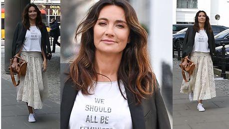 Dominika Kulczyk promuje feminizm hasłem na koszulce