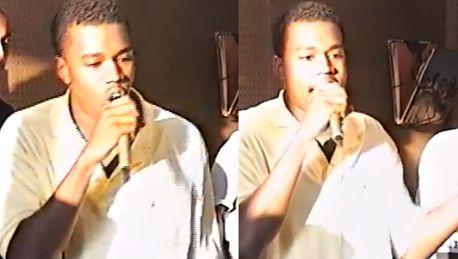 ZOBACZ jak rapuje 19 letni Kanye West