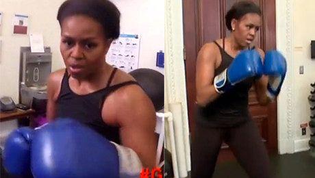 Michelle Obama BOKSUJE W BIAŁYM DOMU