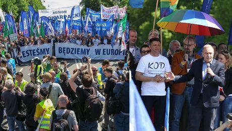 Tak wyglądał marsz KOD u w Warszawie