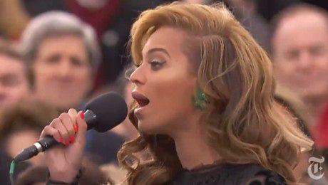 Beyonce śpiewa hymn dla Obamy