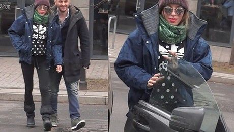 Chodakowska z mężem wychodzą z restauracji