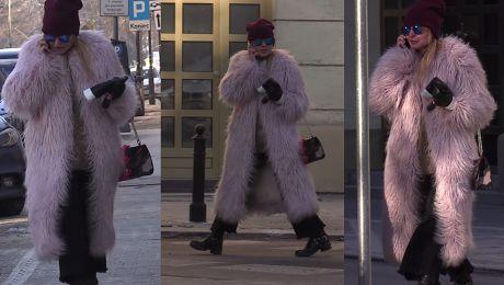 Monika Olejnik z torebką Gucci za 6 tysięcy złotych