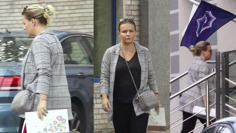 Zmęczona Aneta Zając pędzi na komisariat policji