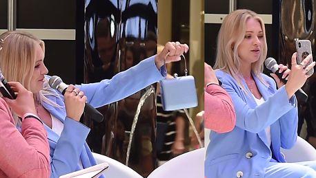 Barbara Kurdej Szatan upycha telefon do luksusowej torebki