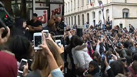 Bieber zagrał koncert na ulicy w Paryżu