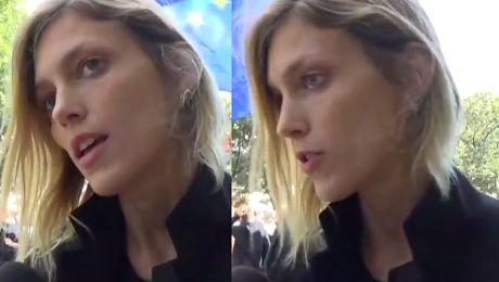 Anja Rubik na Czarnym Proteście w Paryżu Walczymy żeby nowa ustawa nie przeszła