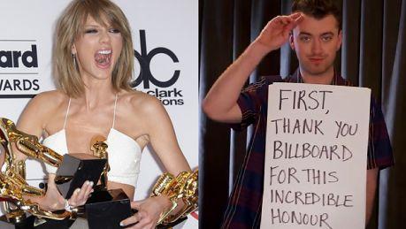 Taylor Swift i Sam Smith odbierają statuetki na Bilboard Music Awards