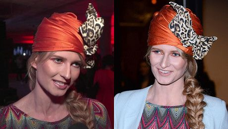 Ania Piszczałka z Top Model filozofuje z turbanem na głowie Lubię tak płynąć z wodą bo wtedy zauważam dużo więcej rzeczy