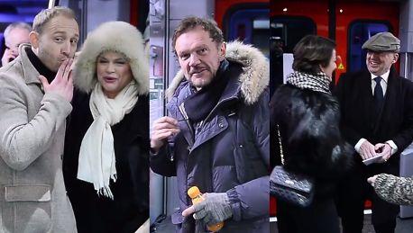 Linda Olbrychski Szyc Figura i Pazura jadą pociągiem na premierę Powidoków