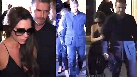 David Beckham wyprowadza pijaną Victorię z imprezy