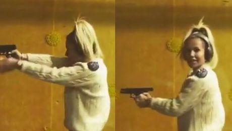 Doda szykuje się do roli w Pitbullu na strzelnicy…