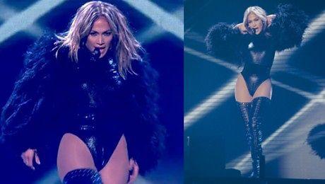 44 letnia Jennifer Lopez szaleje na scenie brytyjskiego Mam Talent