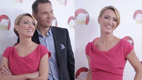 Nowa Pieńkowska w różowej sukience