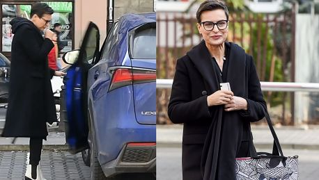 57 letnia Stenka w białych kozakach wsiada do Lexusa za 240 tysięcy złotych