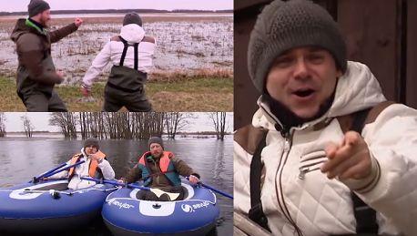 Niecik płynie w pontonie i zwiedza bagna Jestem lokalnym patriotą