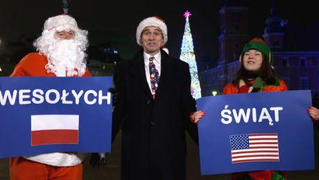 Ambasador USA nagrał życzenia dla Polaków Merry Christmas nowych świąt