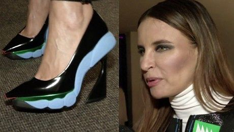 Horodyńska w butach od Diora