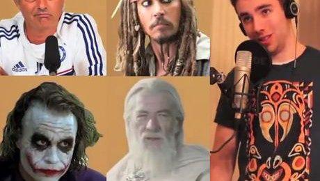 Naśladuje Morgana Freemana i 40 sławnych osób