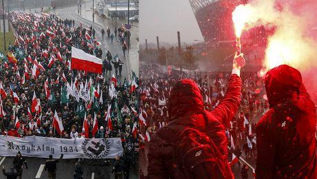Polska bastionem Europy Tak wyglądał marsz narodowców w Warszawie