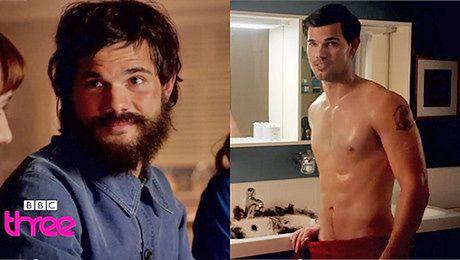 Taylor Lautner z brodą i bez koszulki