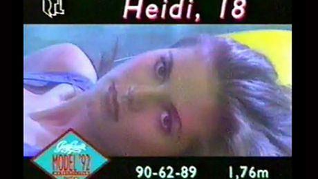 18 letnia Heidi Klum w niemieckim show