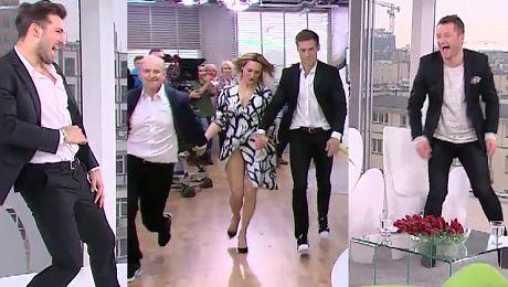 Maślak Choiński i Florek tańczą w Dzień Dobry TVN